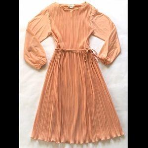 Hal Ferman Vintage Long Sleeve Pleated Dress